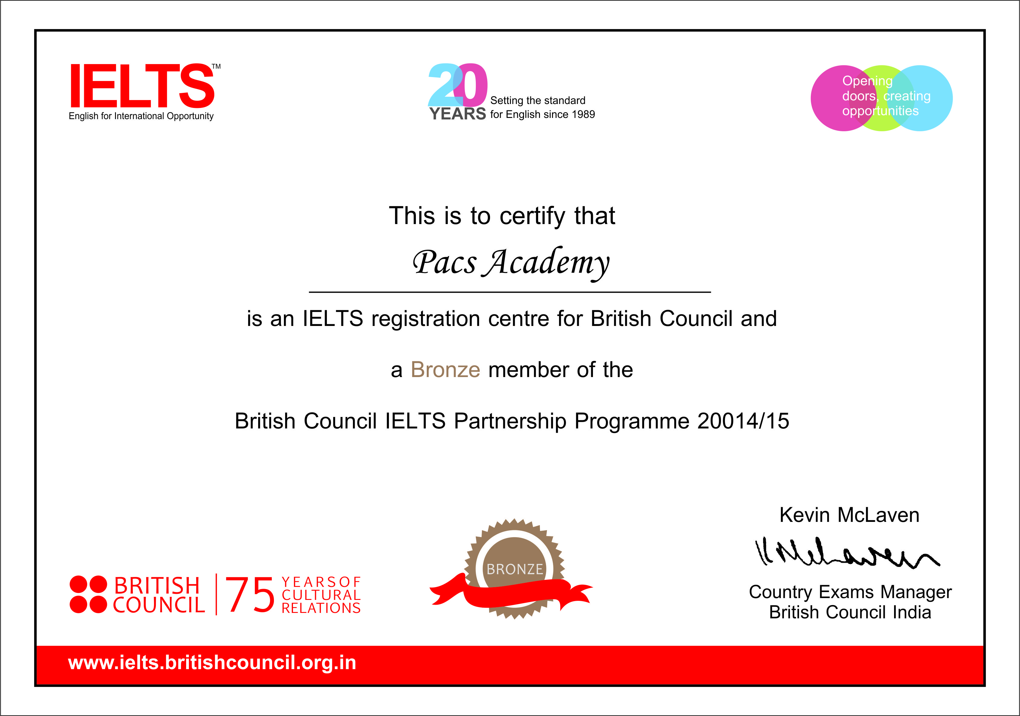 british council certificate